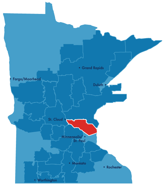 connexus service territory map
