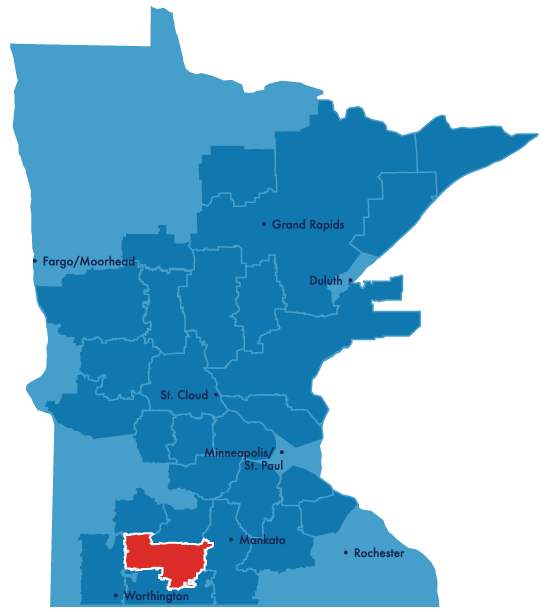 south central service territory map
