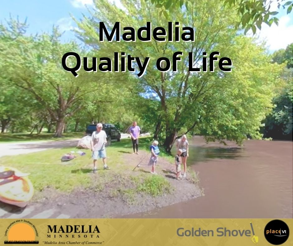 Click the Madelia Area Redevelopment Corporation is Delivering Their Quality of Life Message with 360-Degree Video and Virtual Reality Slide Photo to Open