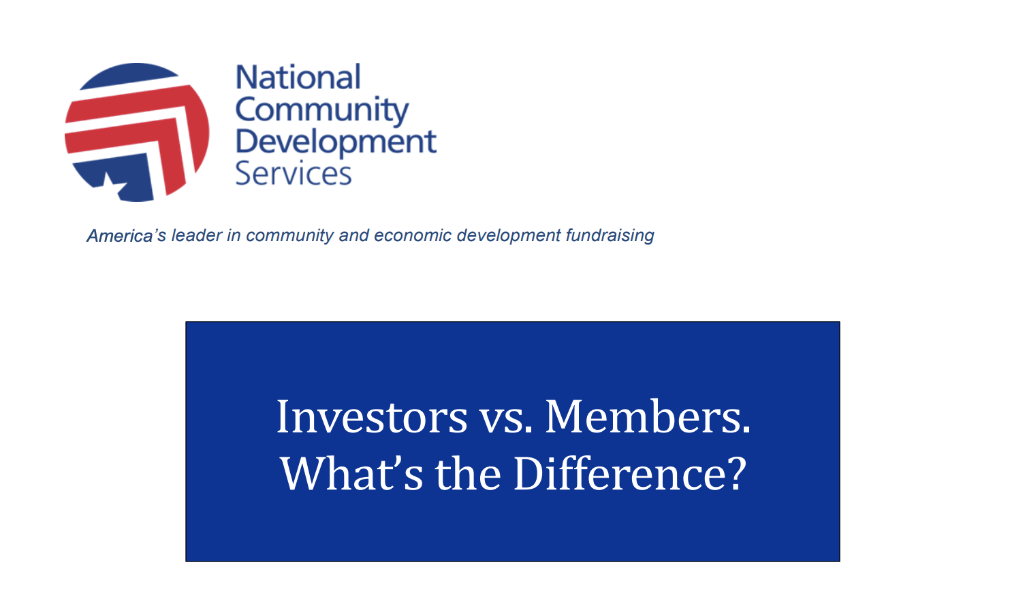 Thumbnail Image For Investors vs. Members. What's the Difference?