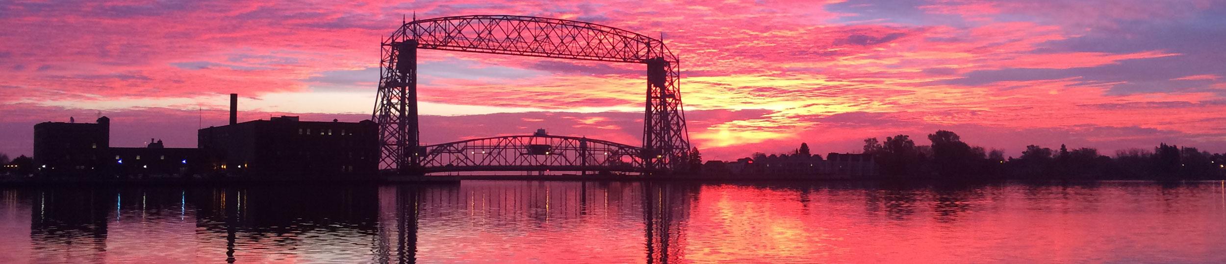 pink sunrise duluth