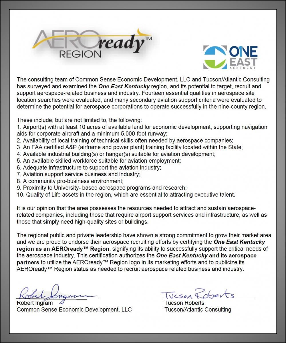 AeroReady Region Letter