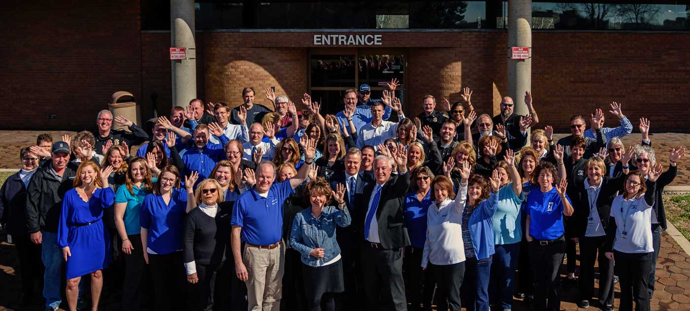 company workforce group photo