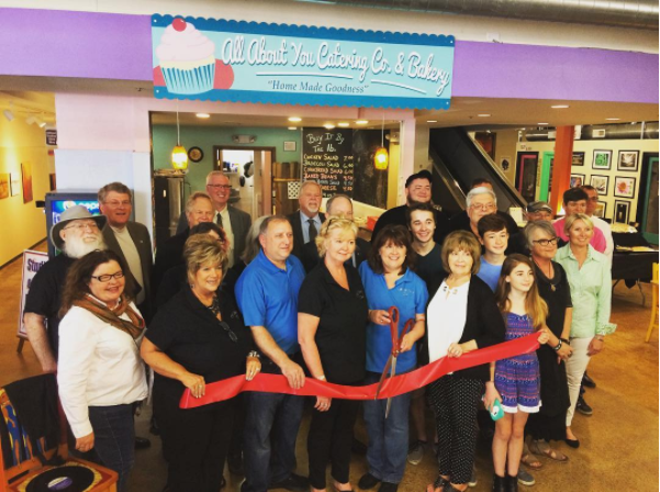 bakery ribbon cutting