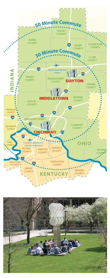 middletown commute map