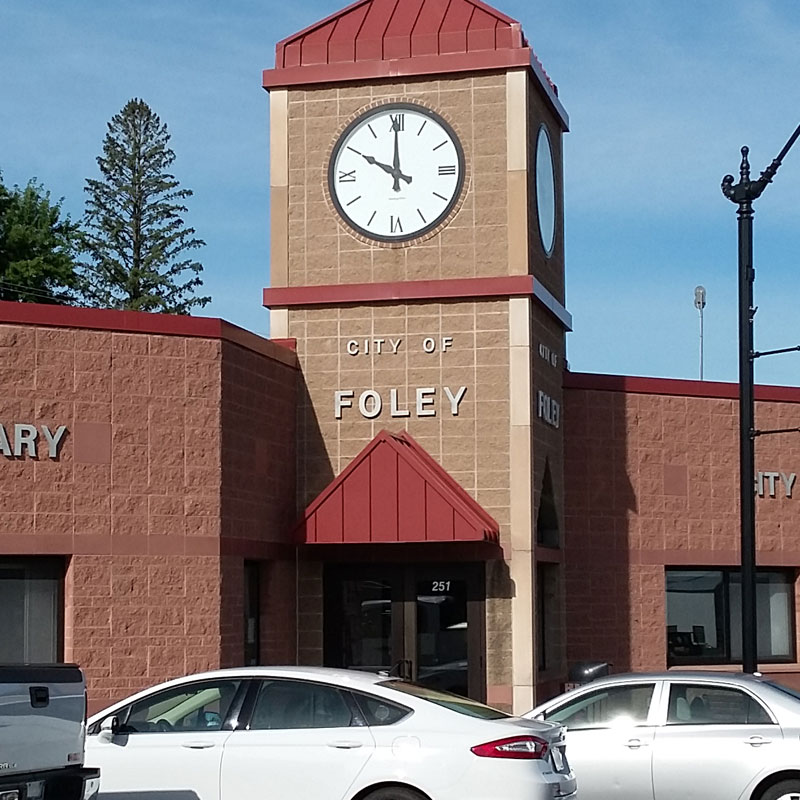 city buildings in Foley, MN