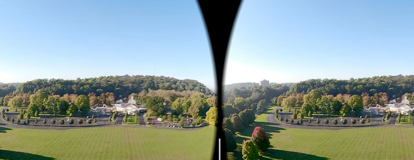 park viewed through vr headset
