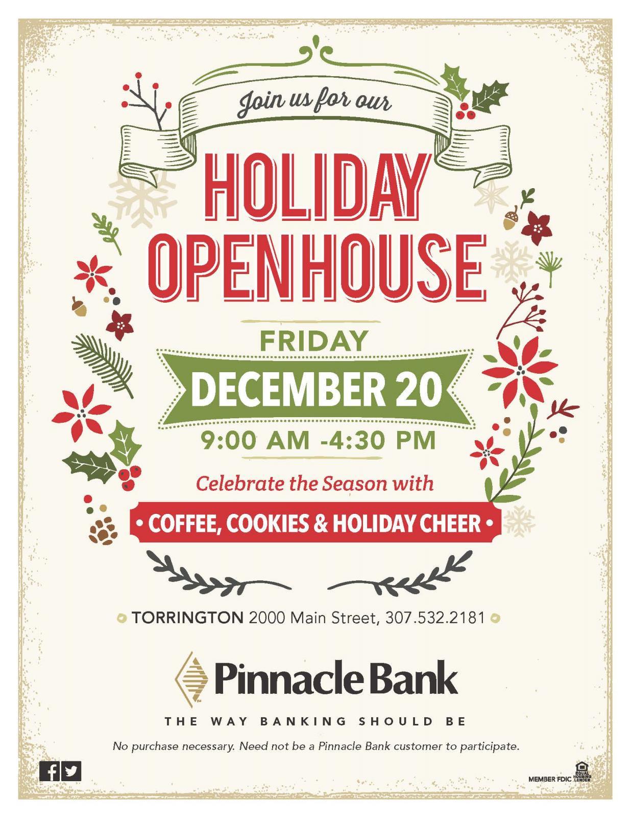 Holiday Open House at Pinnacle Bank Photo