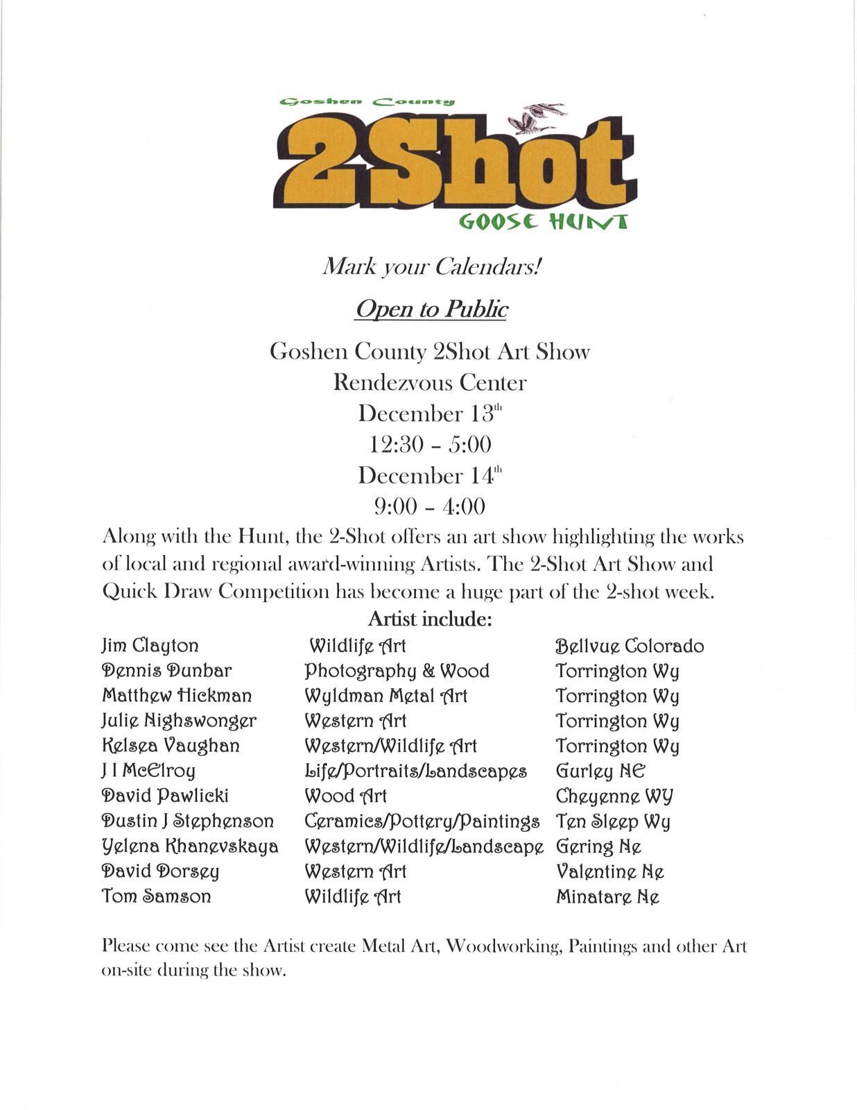 2Shot Art Show Photo