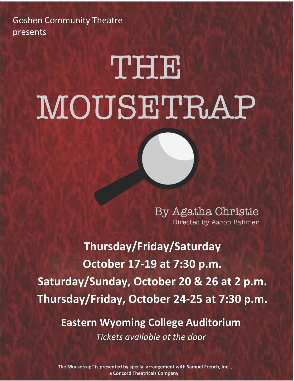 Event Promo Photo For The Mousetrap