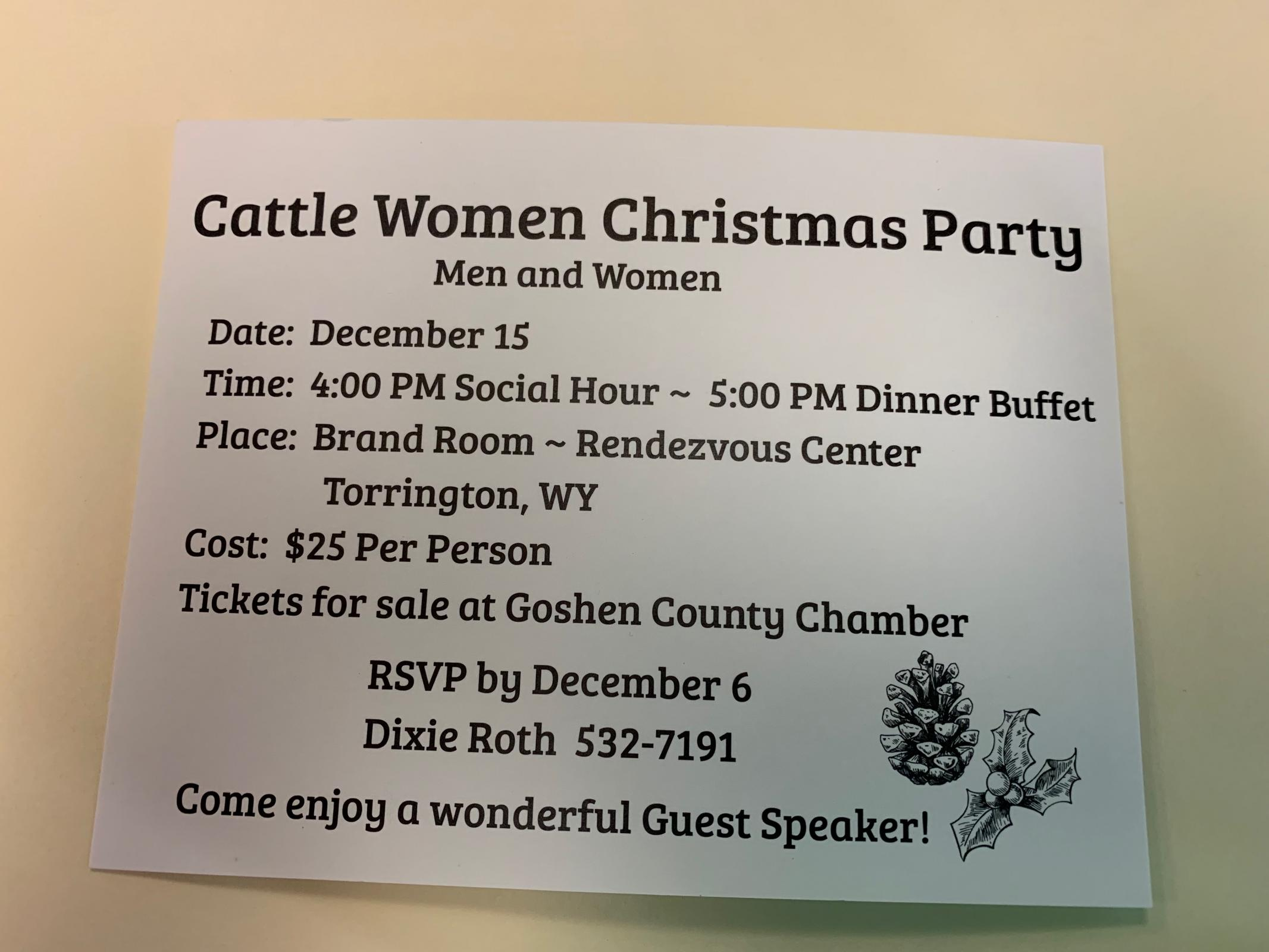 Cattle Women Christmas Party Photo