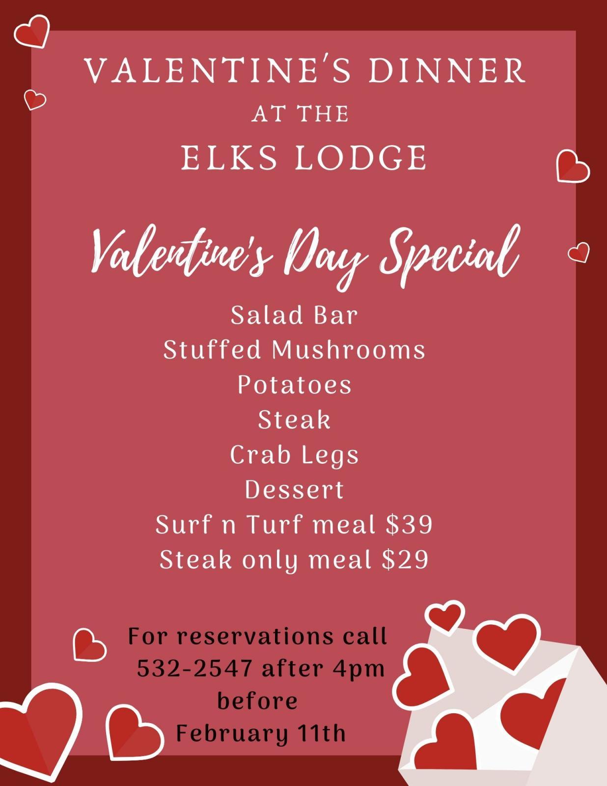 Valentine's Dinner at the Elks Lodge Photo