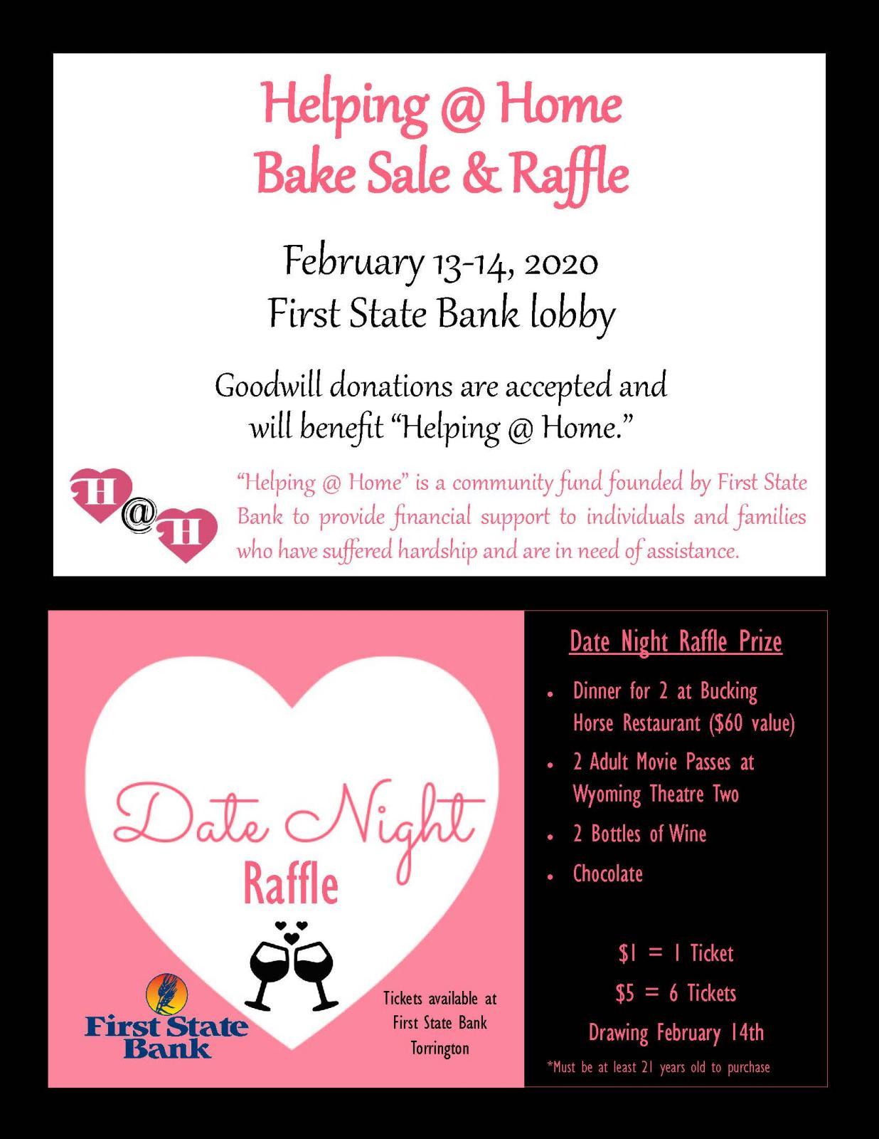 Helping @ Home Bake Sale & Raffle Photo