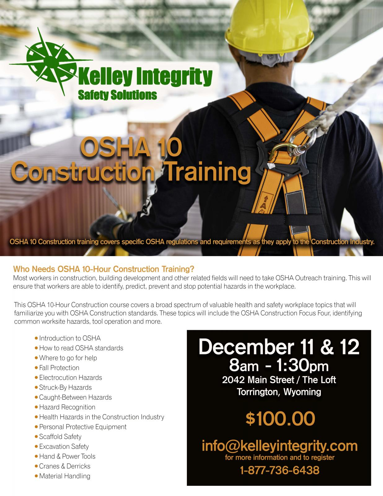OSHA 10 Construction Training Photo