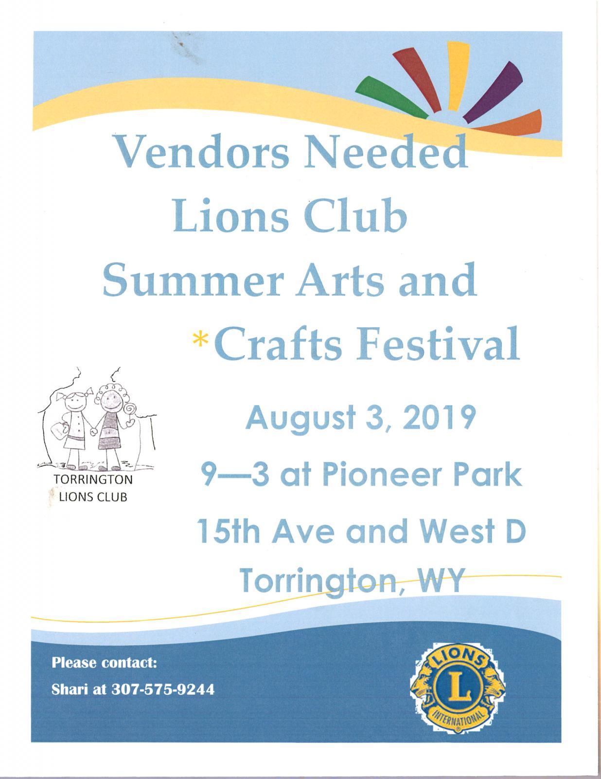 Lions Club Summer Arts & Crafts Festival Photo