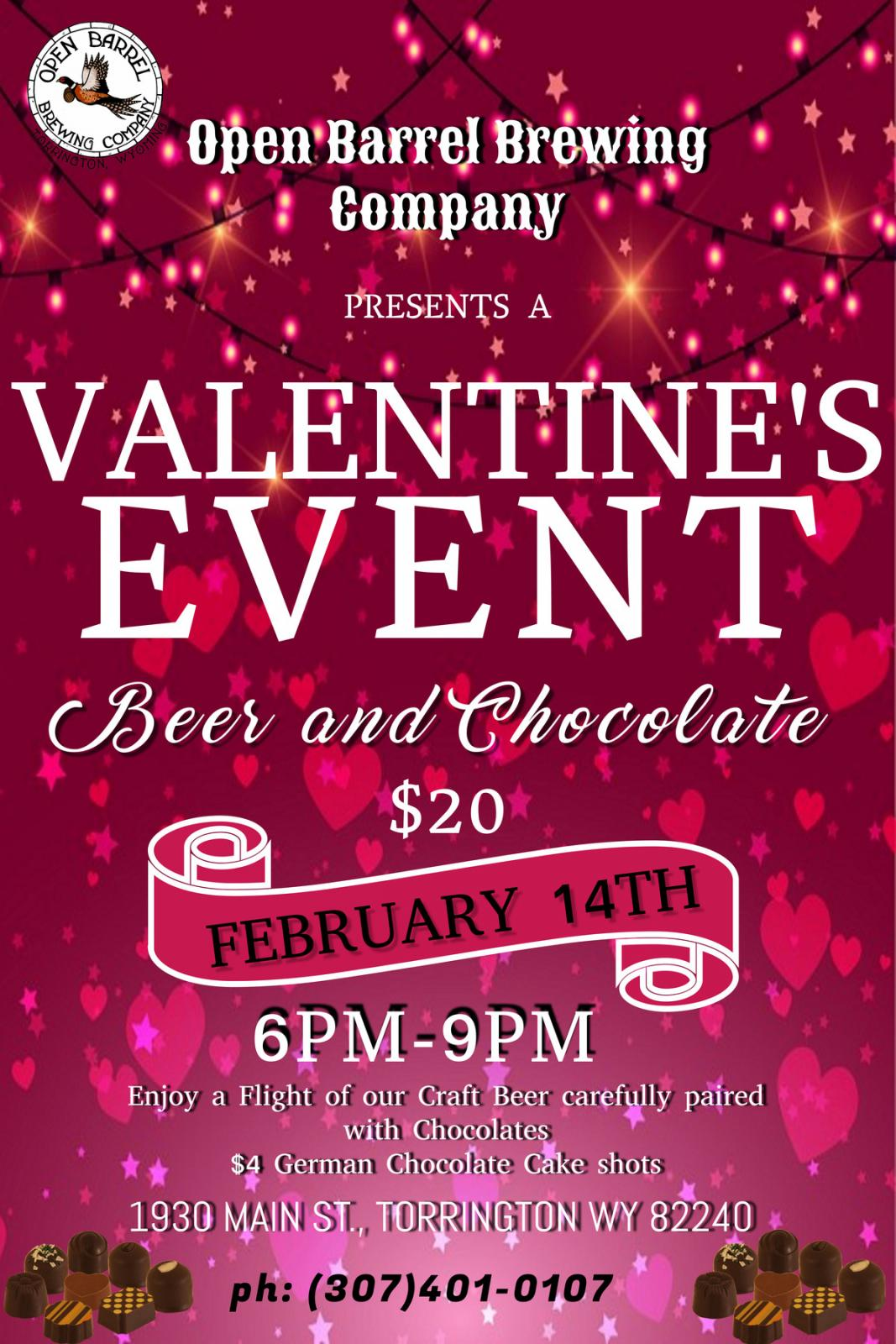 Beer and Chocolate Valentines Event Photo
