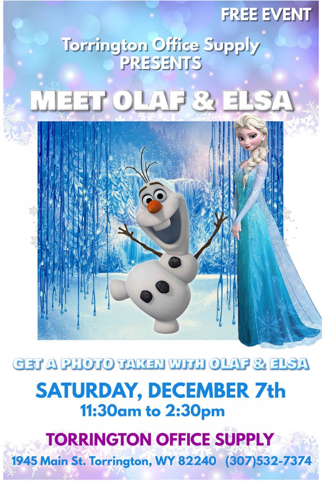 Meet Olaf & Elsa Photo