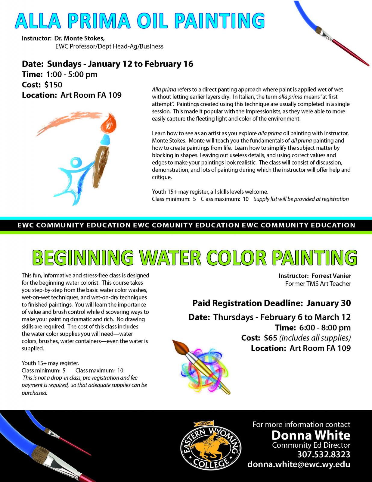 Beginning Water Color Painting Class Photo