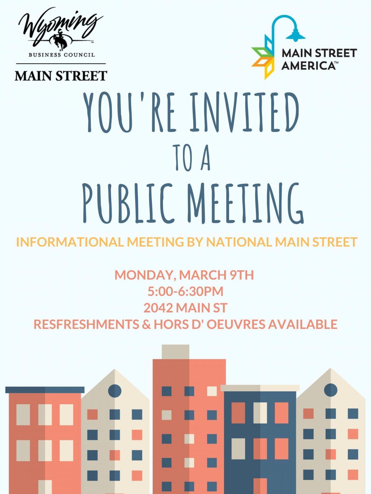 Public Meeting - National Main Street Photo