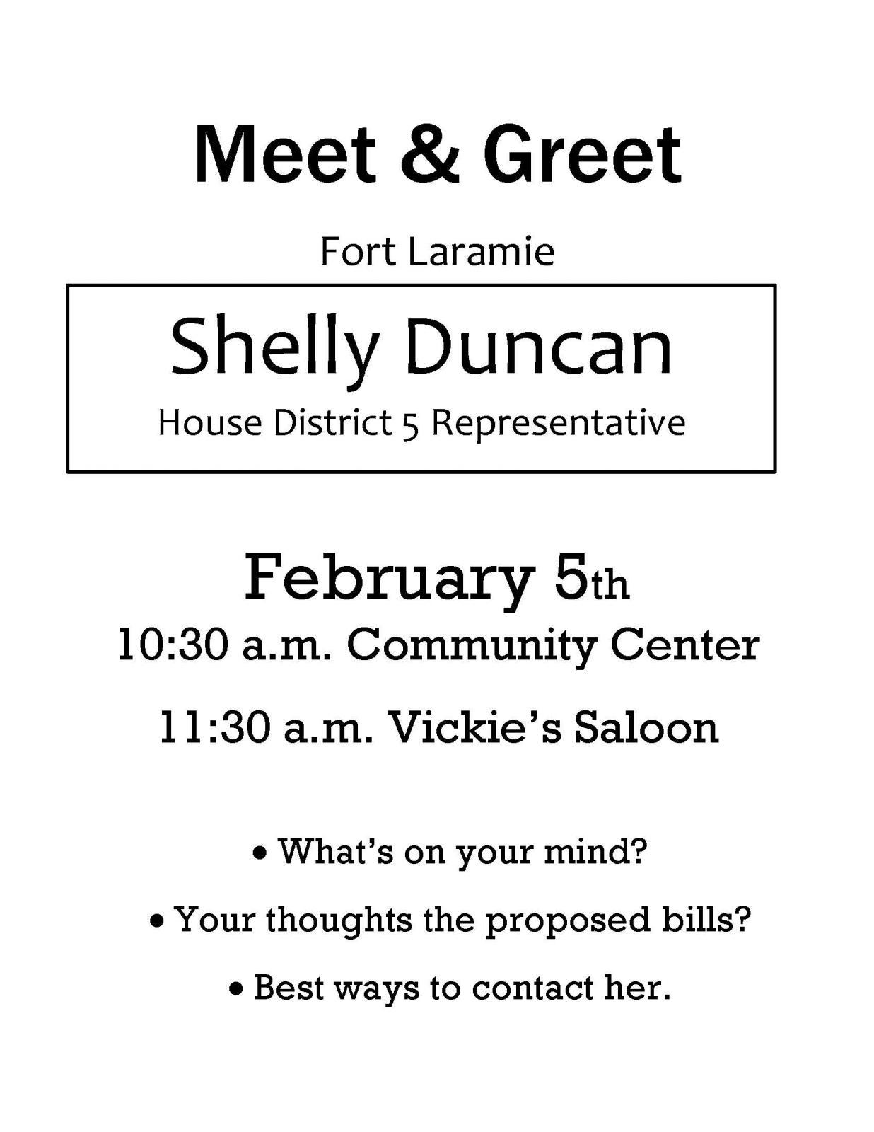 Meet & Greet Shelly Duncan held in Fort Laramie Photo