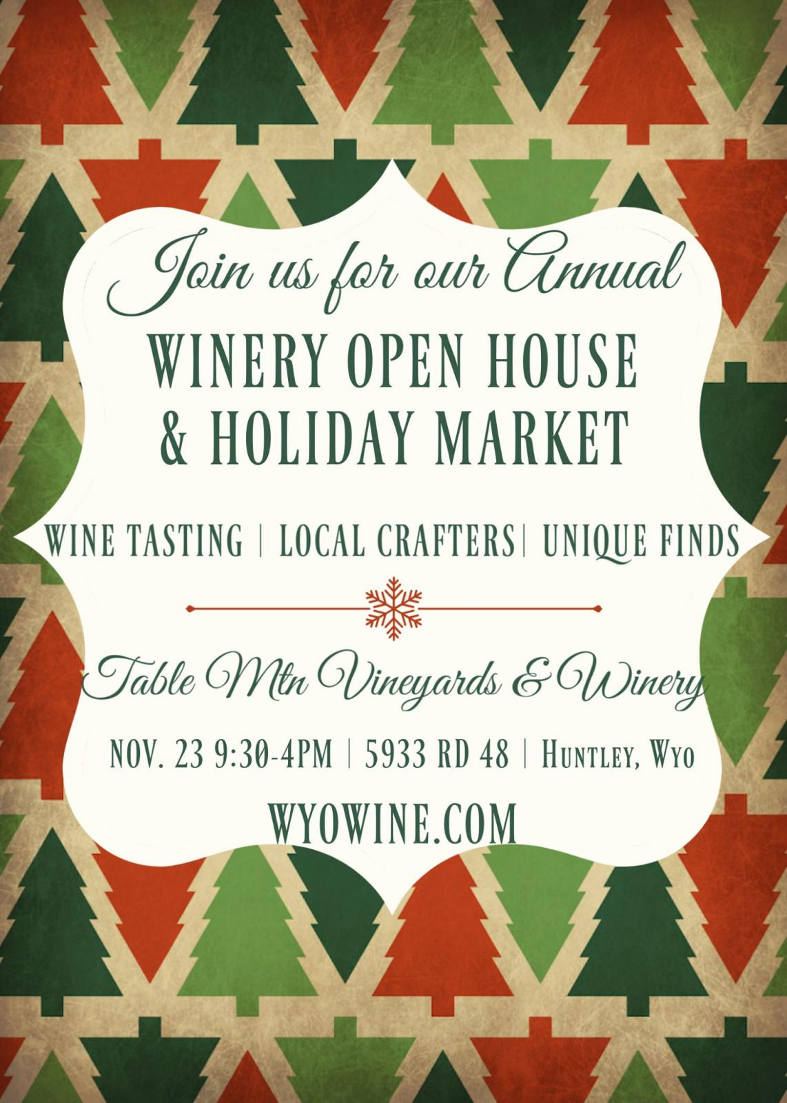 Winery Open House & Holiday Market Photo