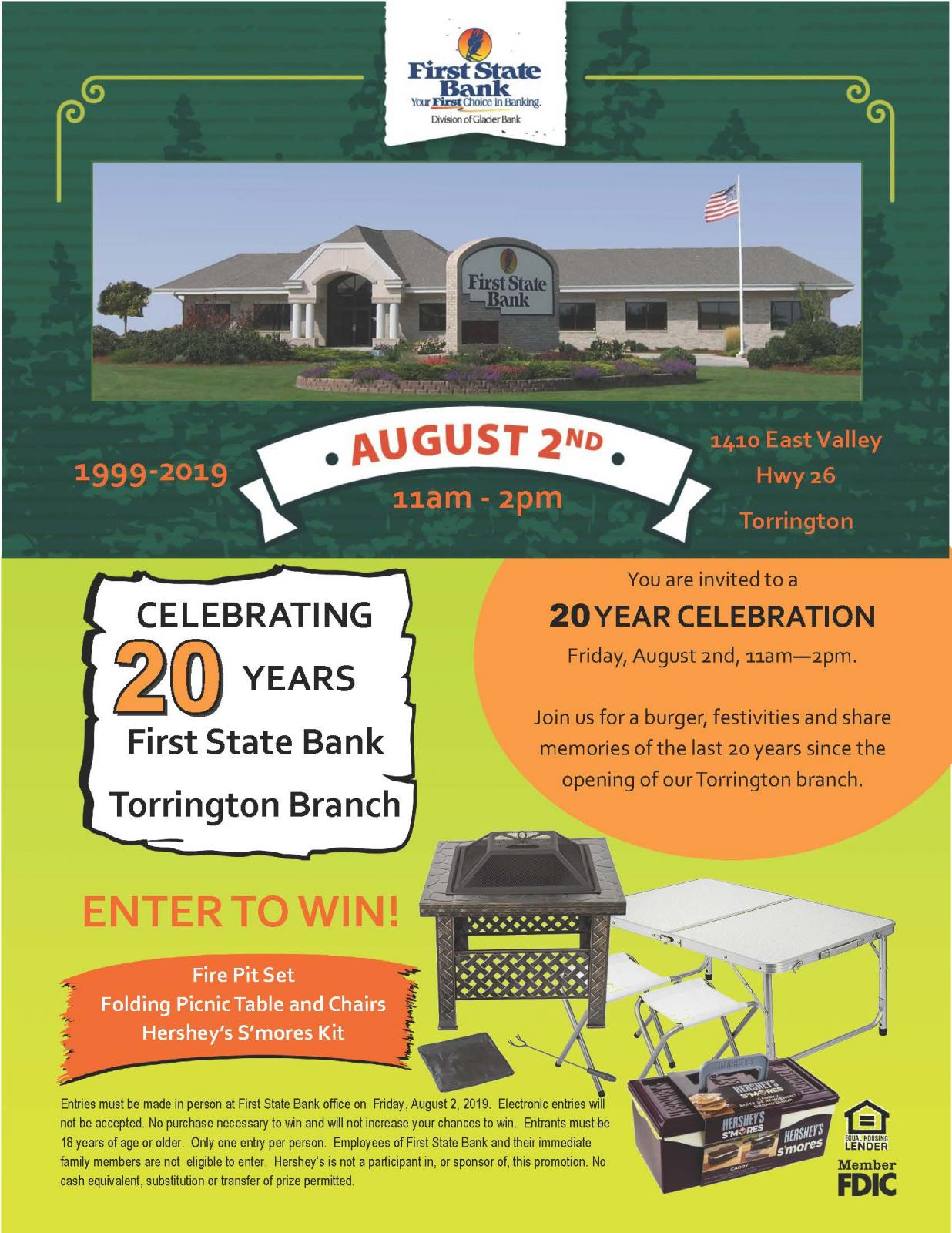 First State Bank 20 Year Celebration Photo