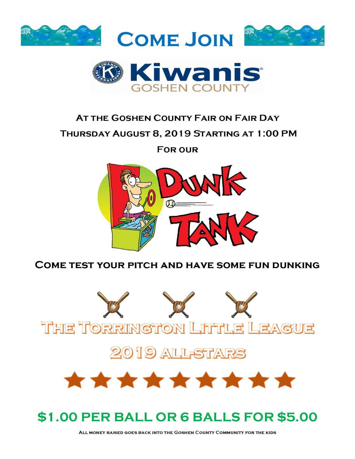 Kiwanis Dunk Tank at the Fair Photo