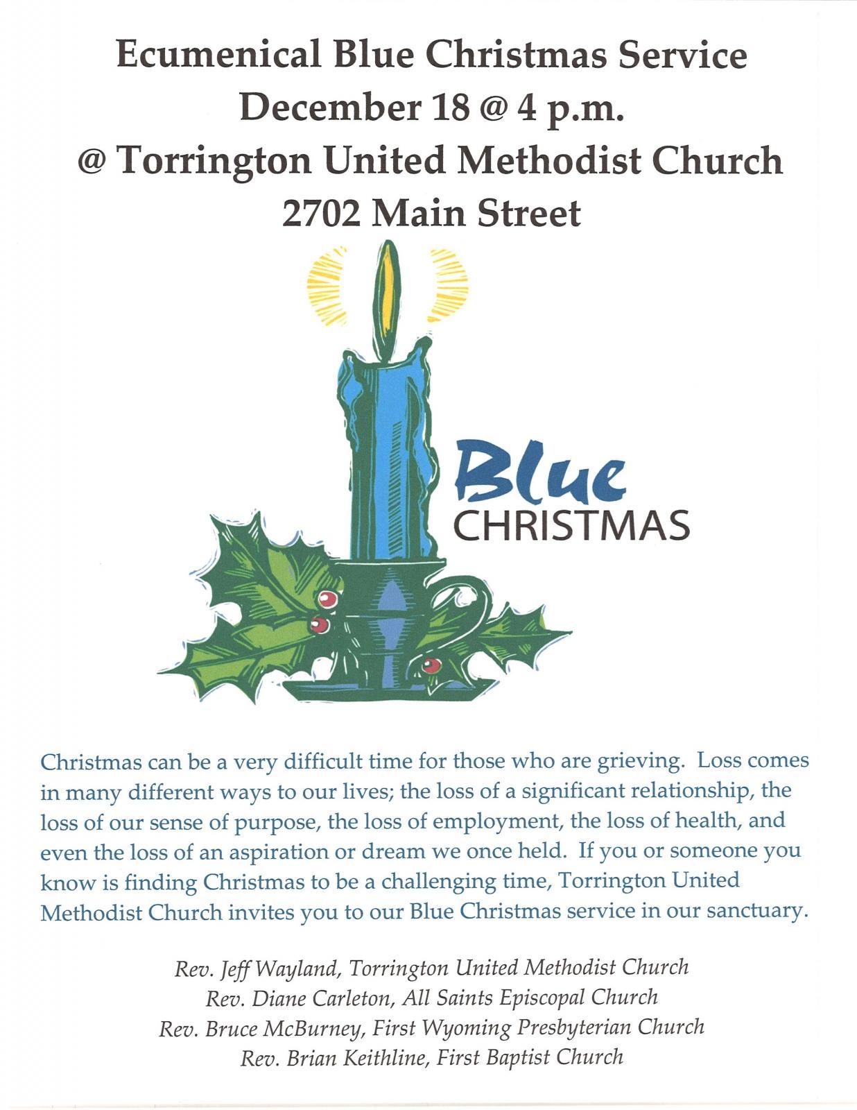 Ecumenical Blue Christmas Service Photo