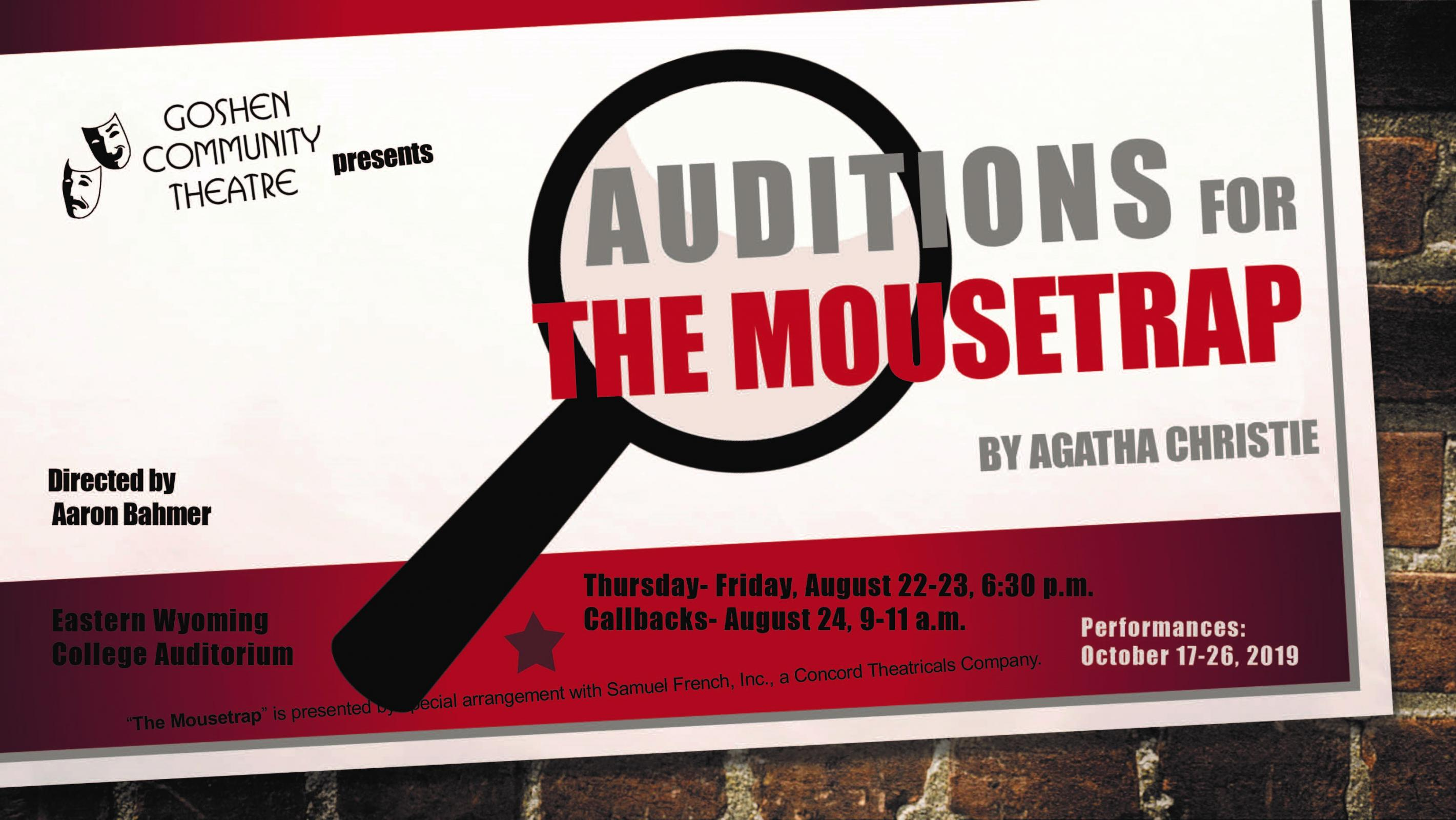 Auditions for The MOUSETRAP Photo