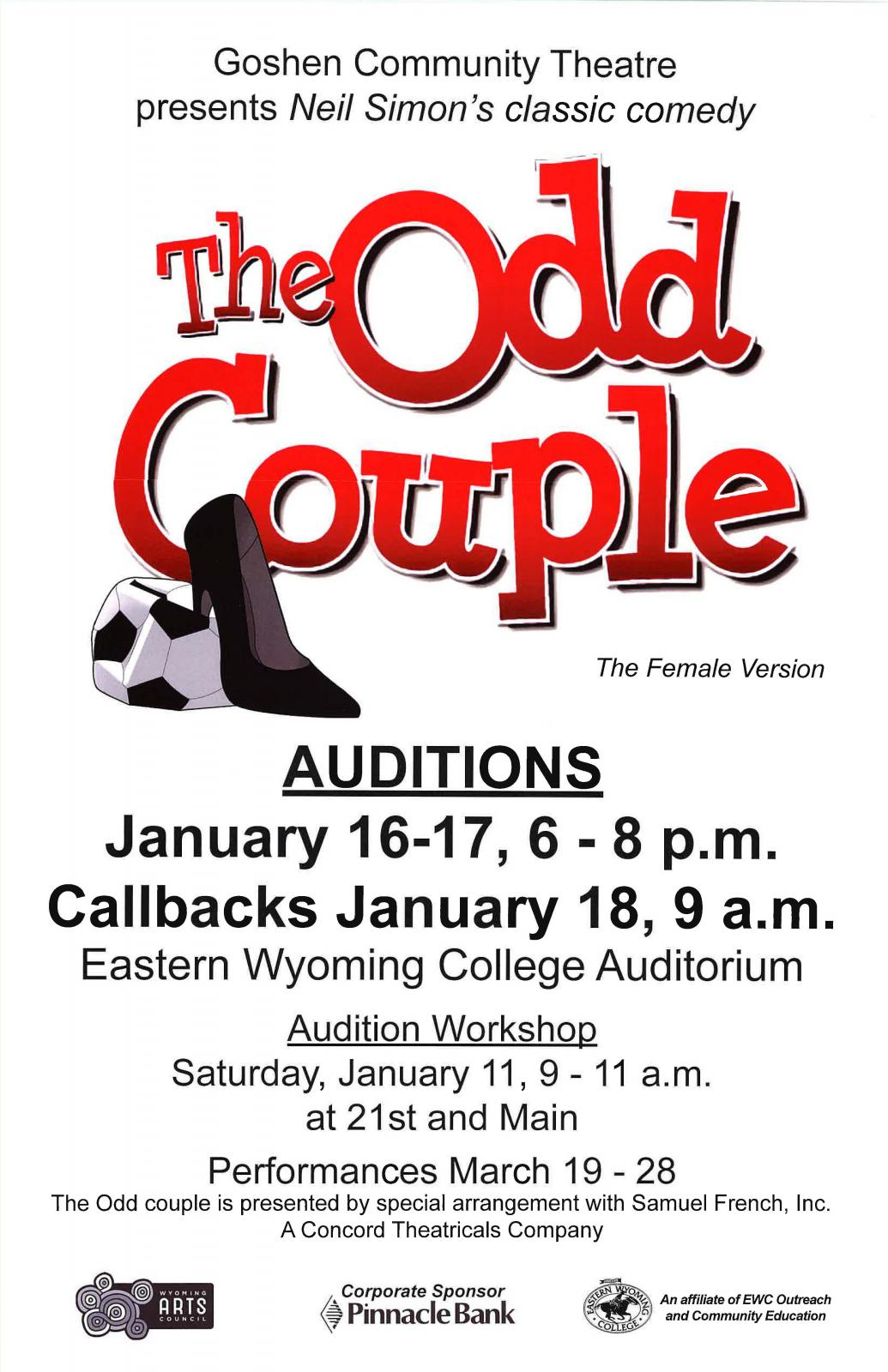 The Odd Couple Auditions Photo