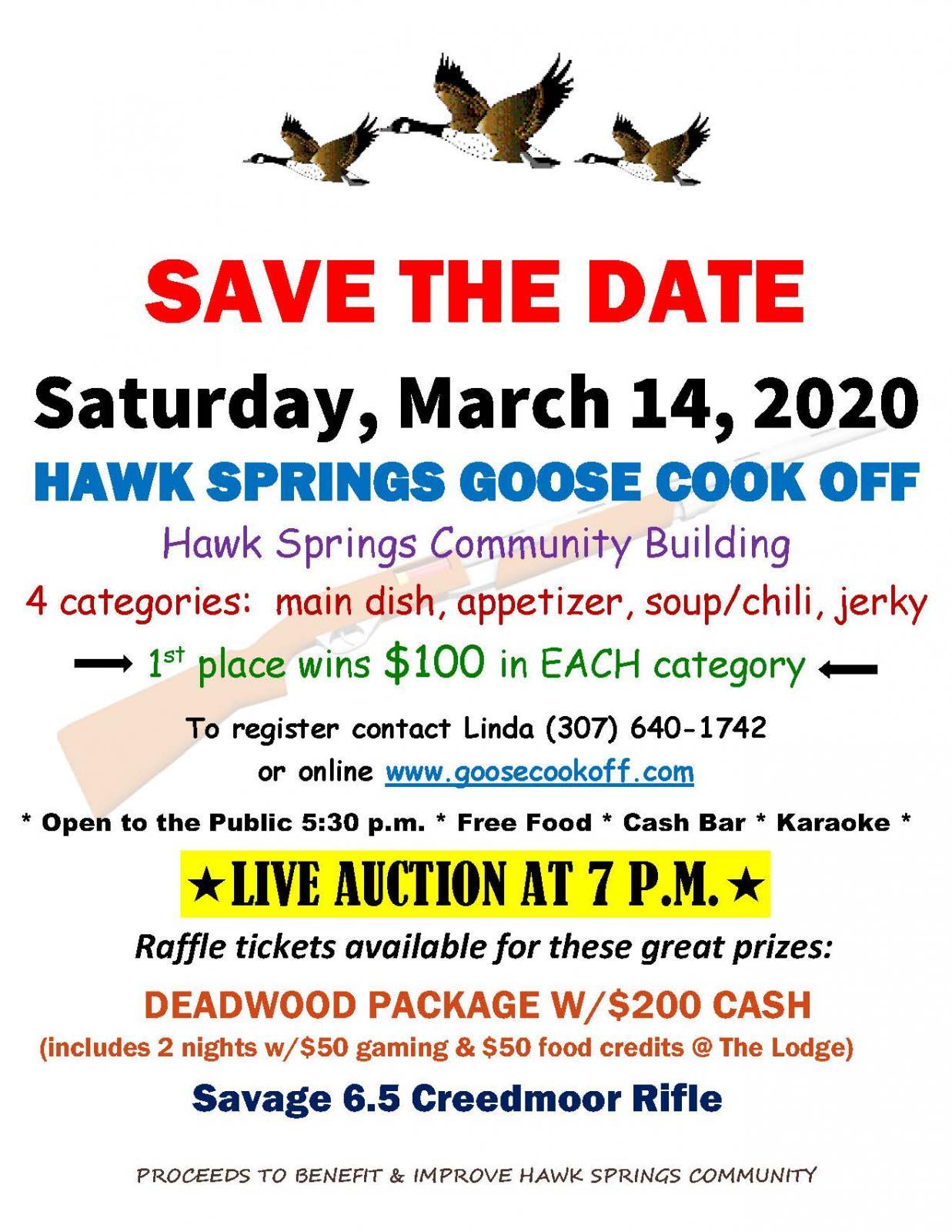 Hawk Springs Goose Cook Off Photo
