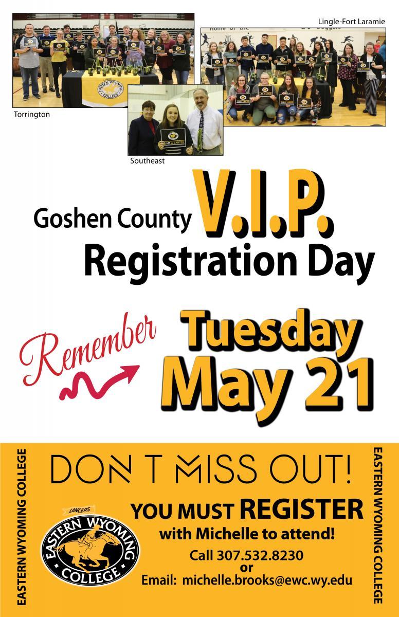 Goshen county VIP Registration Day Photo