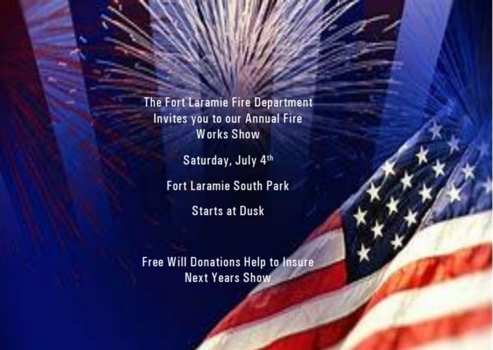 Fort Laramie Firework Show Photo