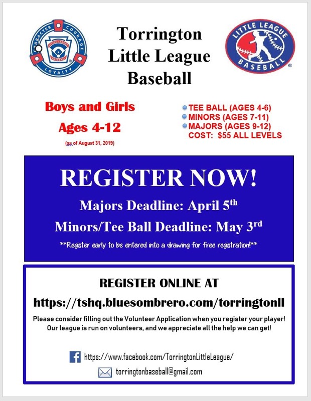 Torrington Little League Baseball Registration Photo