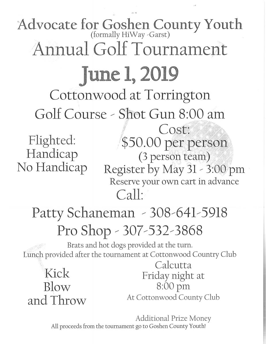 Goshen County Youth Golf Tournament Photo