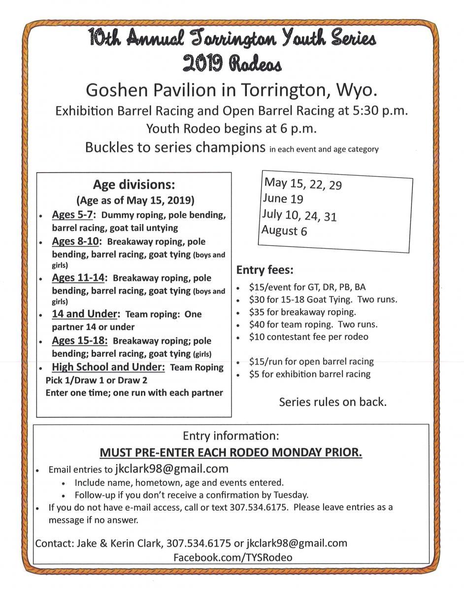Torrington Youth Series 2019 Rodeo Photo