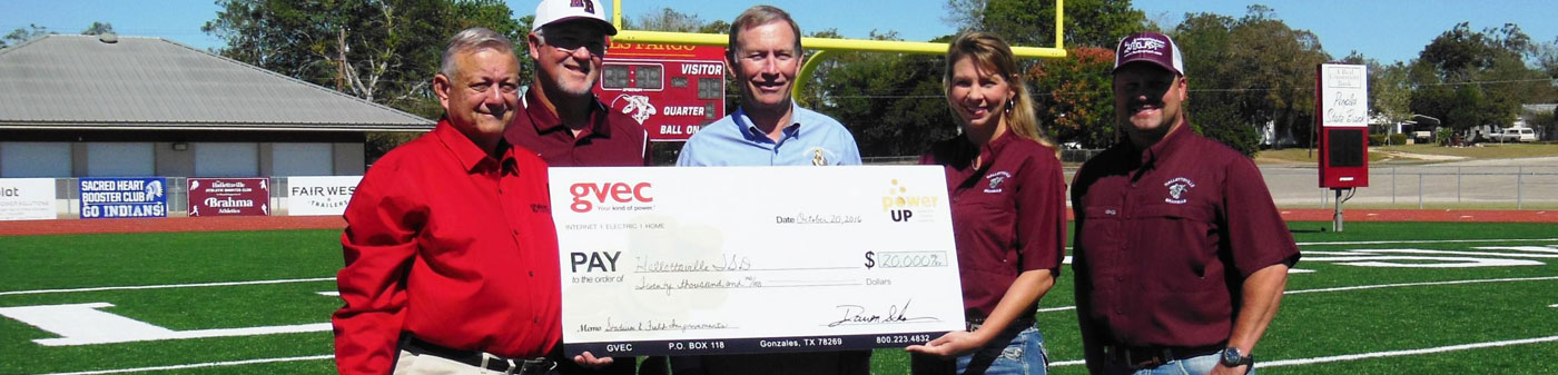 Hallettsville ISD in South Texas presented with a GVEC POWER UP Grant