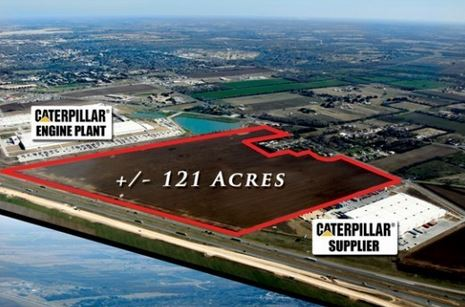 121 Acre Industrial Site located next to CAT Engine Plant Seguin, Texas Photo