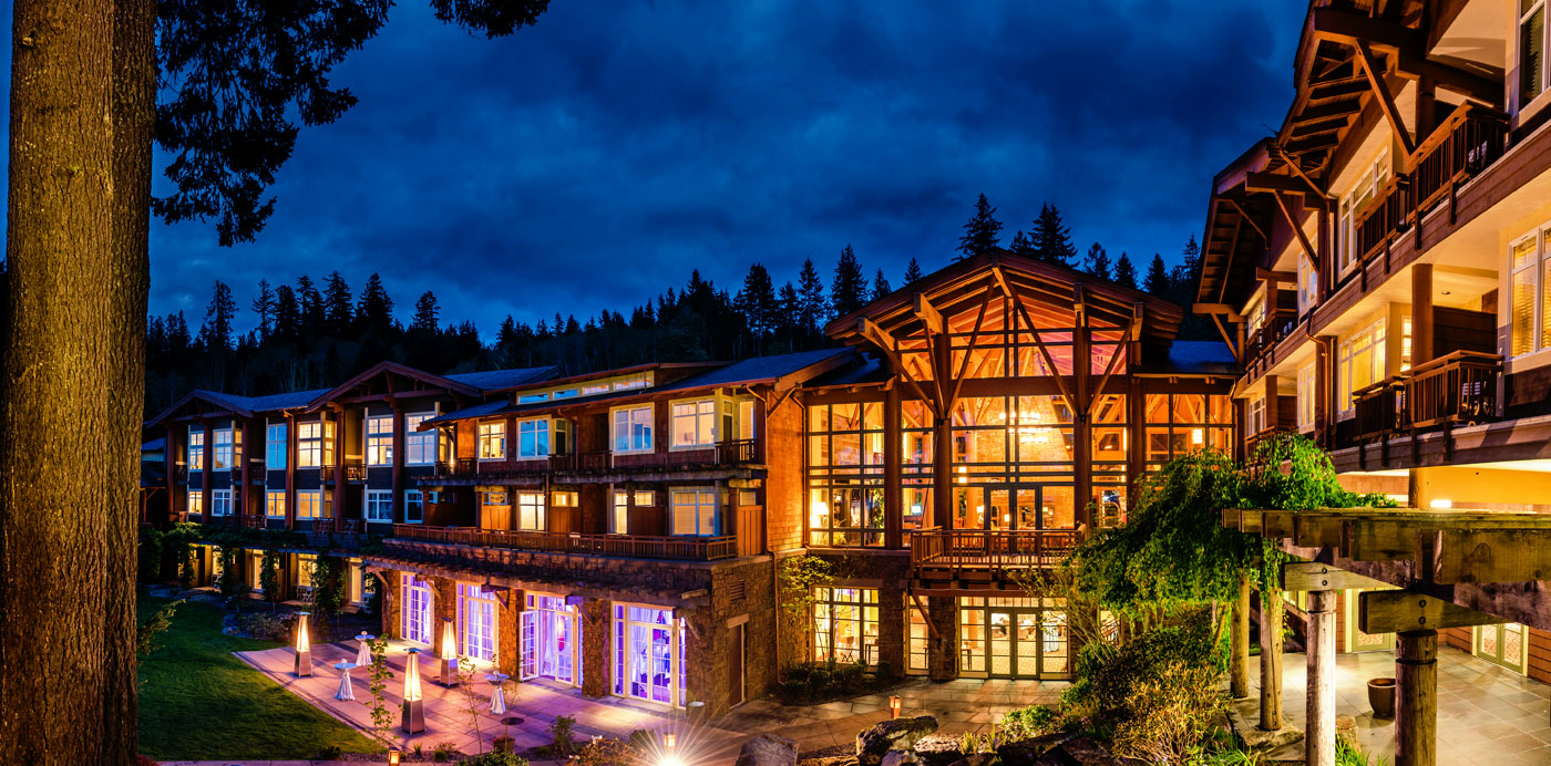alderbrook exterior at night