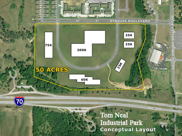 Tom Neal Industrial Park Aerial Map