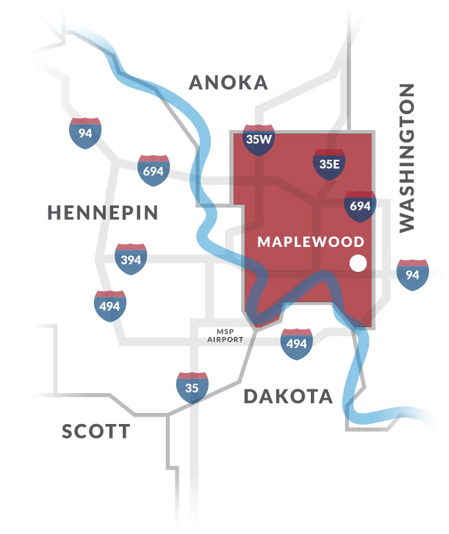 maplewood mn map