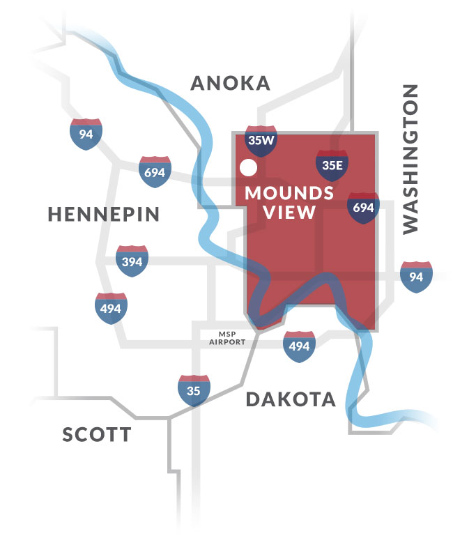 mounds view mn map