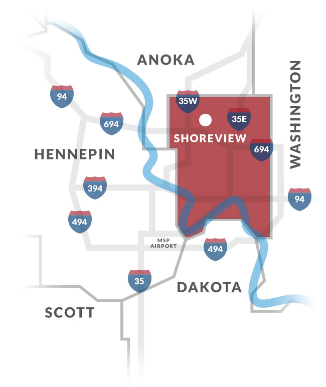 shoreview mn map