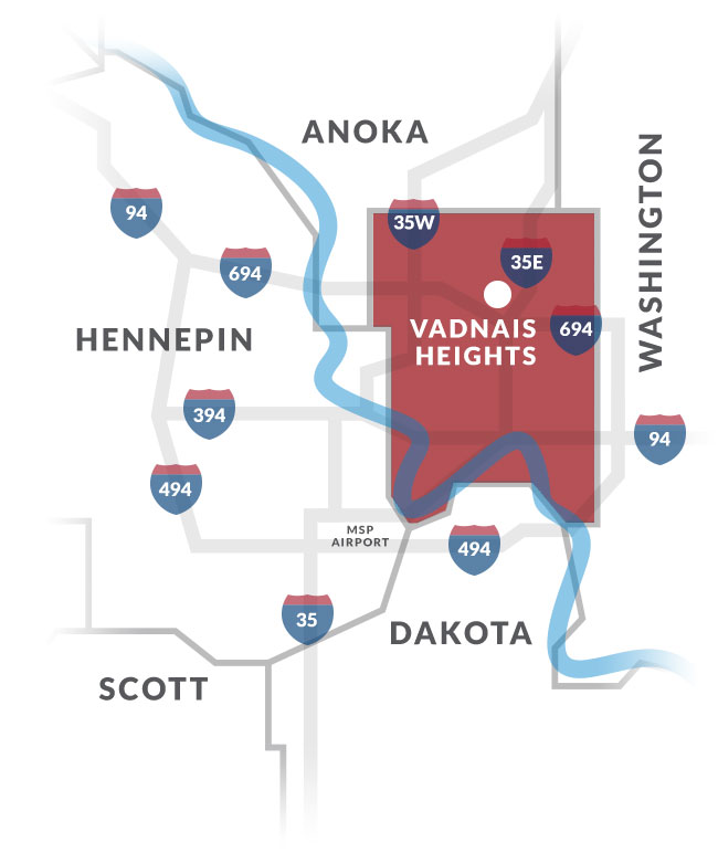 vadnais heights mn map