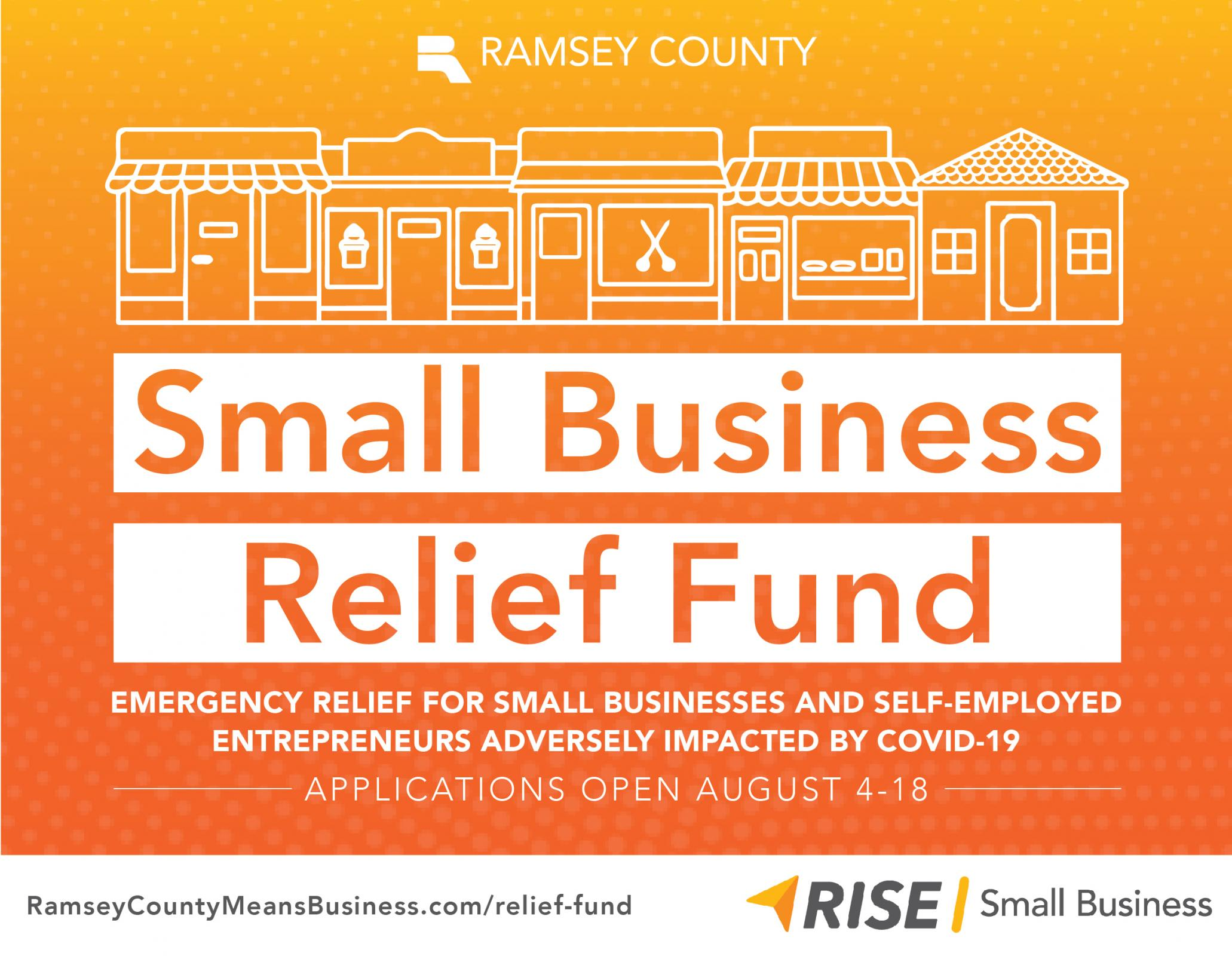 Applications open Aug. 4-18 for Small Business Relief Fund grants Photo