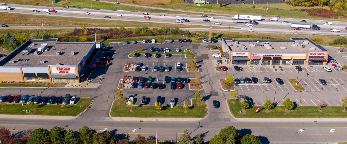 local business aerial shot