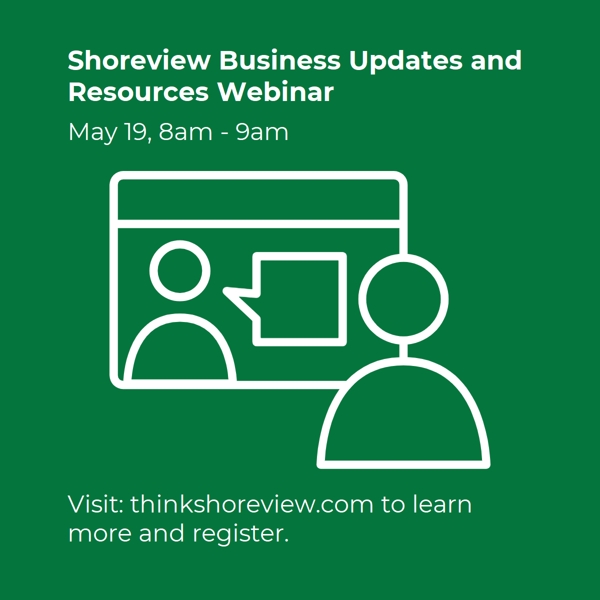Shoreview Virtual Business Resources and Updates 5/19 Main Photo