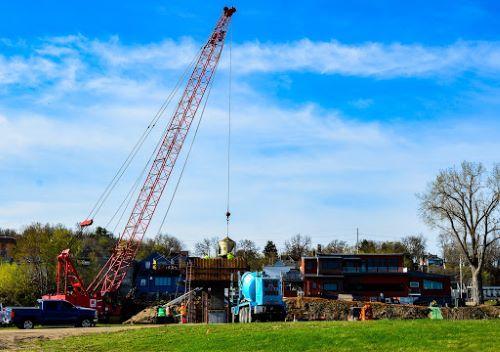 Bike-Pedestrian Bridge Construction Underway Photo - Click Here to See