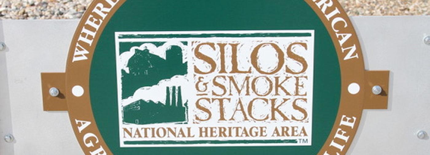silos and smoke stacks