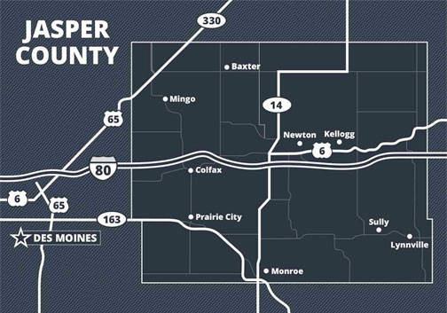Click the Jasper County, Iowa: The Ideal Location for Your Life and Business Slide Photo to Open